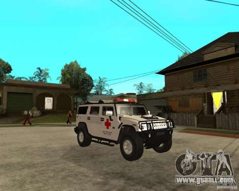 AMG H2 HUMMER - RED CROSS (ambulance) for GTA San Andreas right view