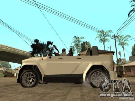 Uaz Cabriolet for GTA San Andreas left view