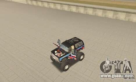 Chevrolet Blazer K5 Monster Skin 1 for GTA San Andreas back view