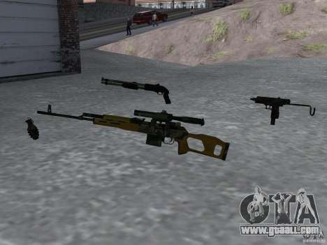 Pak domestic weapons version 4 for GTA San Andreas