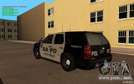 Chevrolet Tahoe SAPD for GTA San Andreas left view