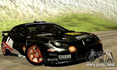 Subaru Impreza WRC 2007 for GTA San Andreas inner view