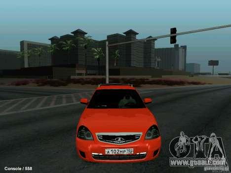 LADA 2170 102-RUS for GTA San Andreas inner view