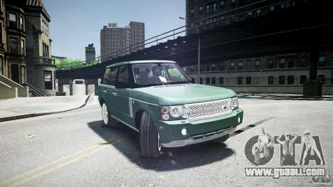 Range Rover Supercharged v1.0 for GTA 4 side view