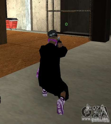 New Ballas Skin for GTA San Andreas second screenshot