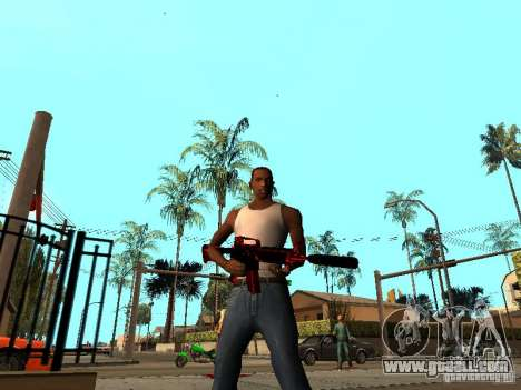 Red Chrome Weapon Pack for GTA San Andreas second screenshot