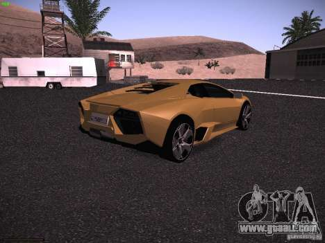 Lamborghini Reventon for GTA San Andreas back left view