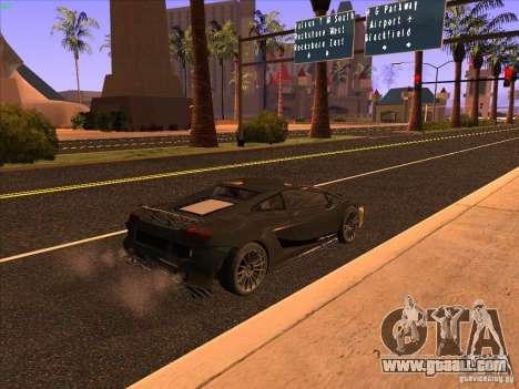 Lamborghini Gallardo Underground Racing for GTA San Andreas back left view