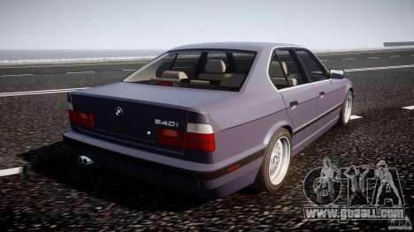 BMW 5 Series E34 540i 1994 v3.0 for GTA 4 upper view