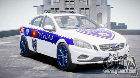 Volvo S60 Macedonian Police [ELS] for GTA 4 back view