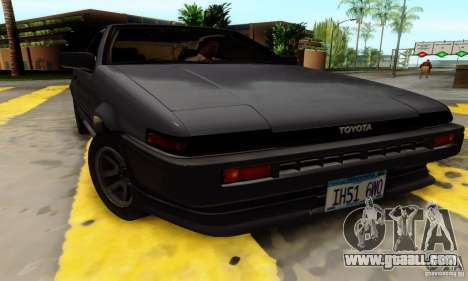 Toyota Corolla AE86 for GTA San Andreas right view