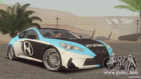 Hyundai Genesis Tunable for GTA San Andreas back view