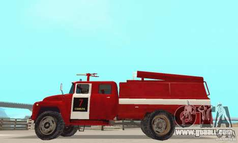 ZIL-130 fire for GTA San Andreas left view
