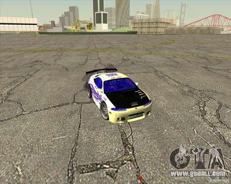 Mitsubishi Eclipse street tuning for GTA San Andreas interior