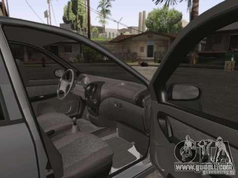 LADA Kalina sedan for GTA San Andreas inner view