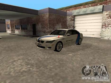 BMW M5 E60 2009 v2 for GTA San Andreas back view