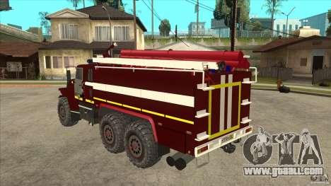 Ural 43206 firefighter for GTA San Andreas back left view