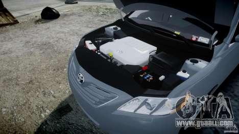 Toyota Camry 2007 (XV40) v1.0 for GTA 4 upper view