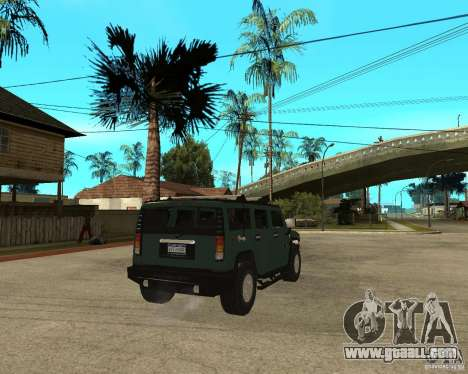 AMG H2 HUMMER SUV for GTA San Andreas back left view