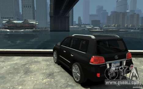 Lexus LX 570 v1.0 for GTA 4 back left view