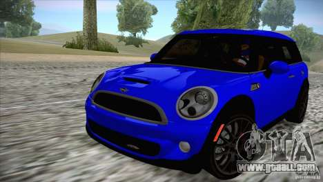 MINI Cooper Clubman JCW 2011 for GTA San Andreas back left view