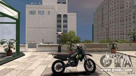 Yamaha YZFM 450 Monster Energy for GTA 4 left view