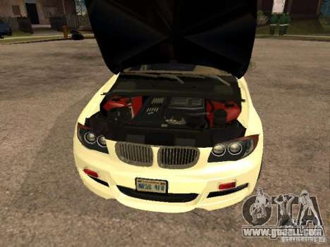 Bmw 135i coupe Police for GTA San Andreas right view