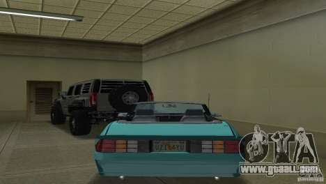 Chevrolet Camaro Convertible 1986 for GTA Vice City right view