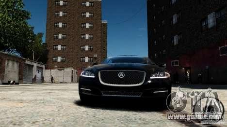 Jaguar XJ 2012 for GTA 4 inner view
