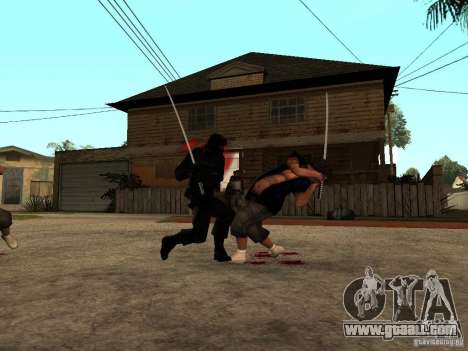 The fight with the katanas on Grove Street for GTA San Andreas forth screenshot