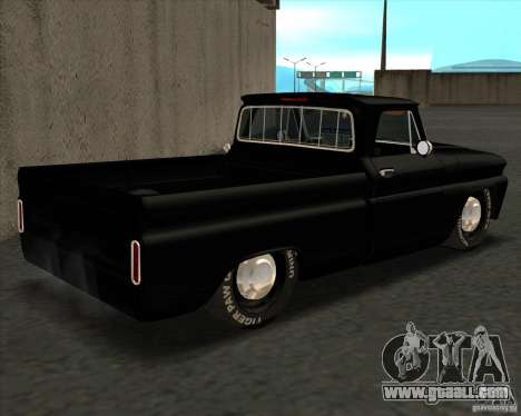 Chevrolet C10 1966 Slamvan Pickup Truck for GTA San Andreas left view
