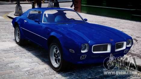Pontiac Firebird Esprit 1971 for GTA 4 upper view