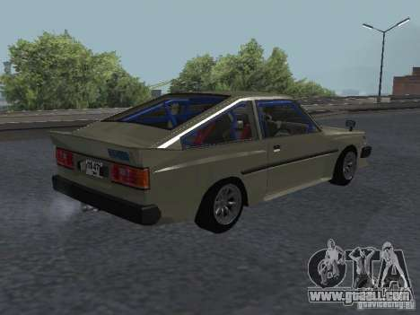 Toyota Corolla TE Coupe Tuned 1971 for GTA San Andreas left view