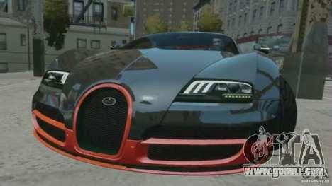 Bugatti Veyron 16.4 Super Sport for GTA 4