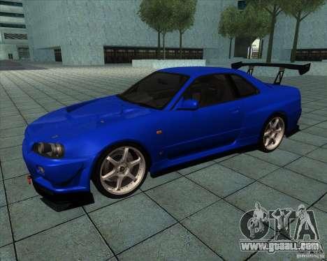 Nissan Skyline R-34 GT-R M-spec Nur for GTA San Andreas
