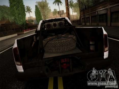Dodge Ram 1500 4x4 for GTA San Andreas back left view