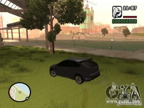 Ford Focus RS 2009 for GTA San Andreas right view