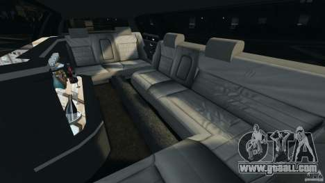 Lincoln Town Car Limousine 2006 for GTA 4 inner view