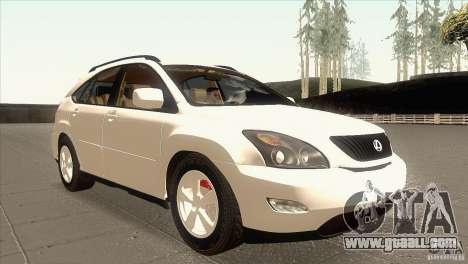 Lexus RX350 for GTA San Andreas back view