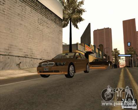 BMW 760i for GTA San Andreas back left view