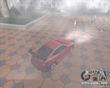 Hyundai Genesis Coupe for GTA San Andreas inner view