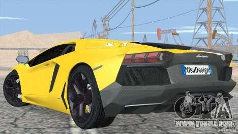 Lamborghini Aventador LP700-4 2012 for GTA San Andreas wheels