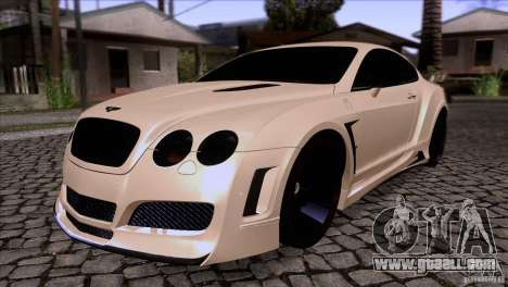 Bentley Continental GT Premier 2008 V2.0 for GTA San Andreas bottom view