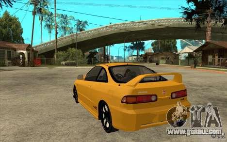 Honda Integra Spoon Version for GTA San Andreas back left view