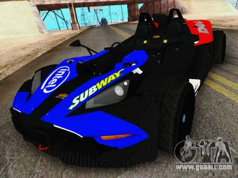 KTM X-Bow 2013 for GTA San Andreas