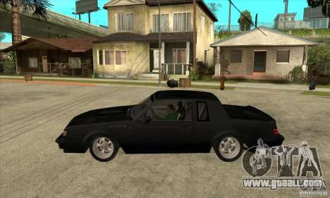 Buick Regal Grand National GNX for GTA San Andreas left view