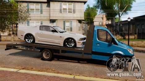 Mercedes-Benz Sprinter 3500 Car Transporter for GTA 4 left view