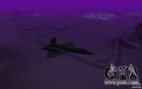 YF-23 for GTA San Andreas back left view