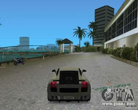 Lamborghini Gallardo Superleggera for GTA Vice City back left view