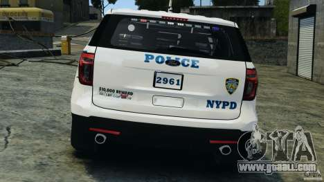 Ford Explorer NYPD ESU 2013 [ELS] for GTA 4 bottom view